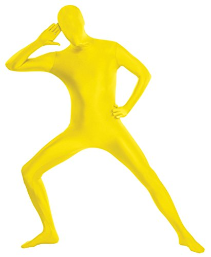 amscan Adult Party Skin Suit Halloween Costume (Yellow, X-Large)
