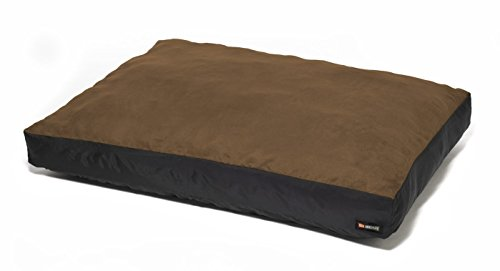 Big Shrimpy Original Faux Suede Dog Bed, Machine Washable & Water Resistant, Extra Large, Walnut