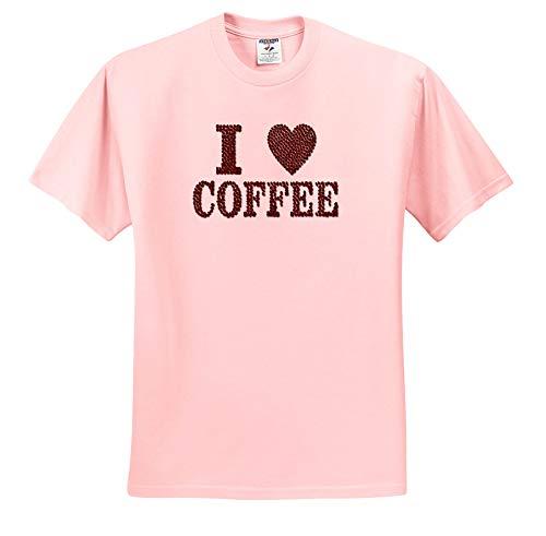 Spiritual Awakenings Sayings - Fun with Coffee Beans Love Coffee Saying in Brown Roasted Beans - T-Shirts - Light Pink Infant Lap-Shoulder Tee (24M) (ts_291615_73)
