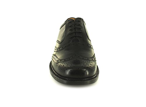 Business Class NUOVO da uomo/da uomo Nero alato PUNTA RINFORZATA Brouge SCARPE calzata più ampia nero - NUMERI UK 13-15