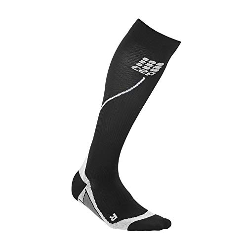 Womens Running Compression Socks - CEP Long 2.0 (Black/Gray) II by CEP (Image #2)