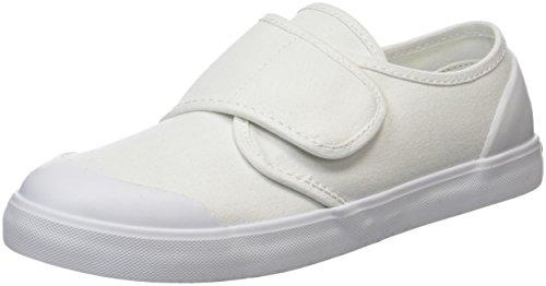 Start Rite Skip, Unisex - Kinder Sneaker Blanc (White Canvas)