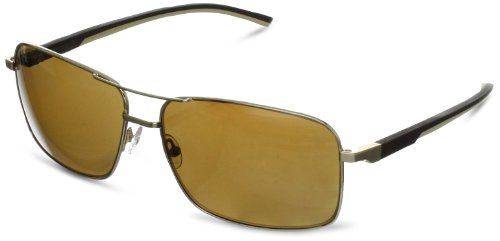 Tag Heuer Automatic 882 214 Polarized Rectangular Sunglasses,Brown,64 - Tag Heuer Sunglasses Automatic