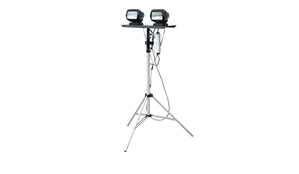 120-277VAC Extends 3.5 to Dual Remote Control Spotlights Portable Telescoping LED Light Tower