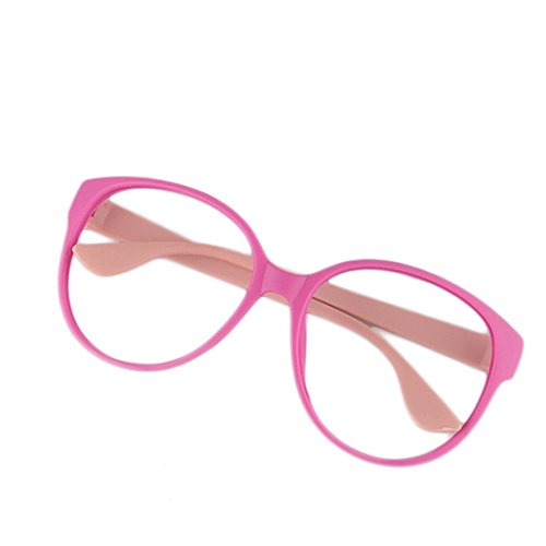 WOLFBUSH Round Eyewear Frames, Cute Glasses Frame Without Lenses No Lens Glasses For Kids Girls - Without Spectacles Frame