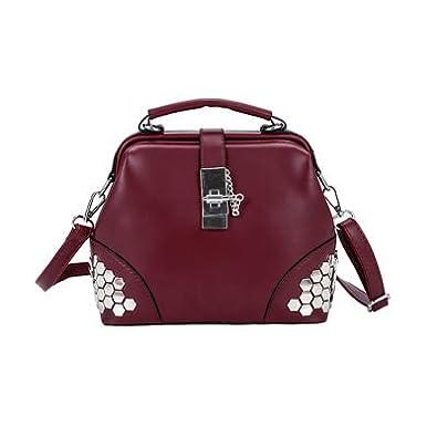 dc556c703d028 Amazon.com: Fashion Shell Women Tote Bag Large Capacity Female Bag Luxury Ladies  Sequins Bag Pu Leather Women Crossbody HandBag Color winered 22cm9cm17cm:  ...