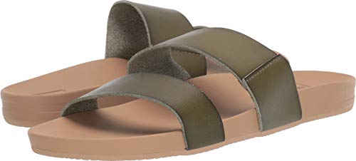 Green Leather Slide - Reef Women's Cushion Bounce Vista Olive 11 B US
