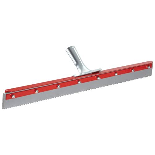 """New Haviland 1424SE EPDM Rubber Non-Marking Heavy Duty Serrated Applicator Squeegee, 24"""" Length, 3/16"""" Serration, Gray free shipping"""