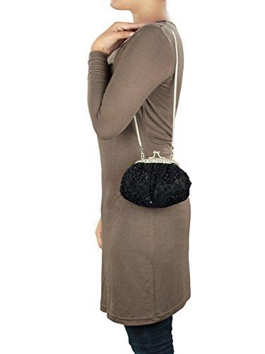 MyBatua Klassische Sabah Handtasche handgemachte Qualitäts-Metallrahmen -Tasche ACP-666