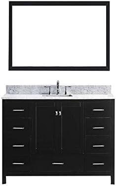 Virtu USA GS-50060-WMSQ-ES Caroline Avenue 60″ Single Bathroom Vanity Set