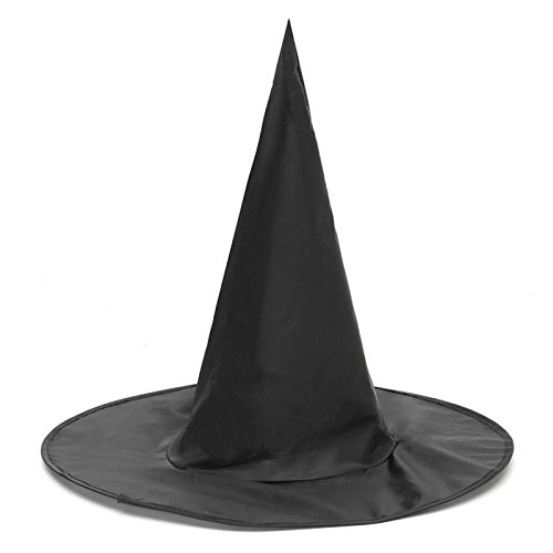 SGI Halloween Witch Black Pointy Hat Adult Kids Cosplay Costumes 37 x38cm -