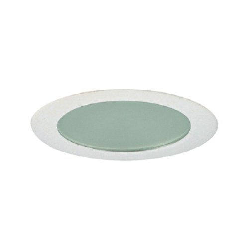 Jesco Lighting TM309WH 3-Inch Aperture Low Voltage Trim Recessed Light, Flat Frosted Opal Glass for Shower, White Finish
