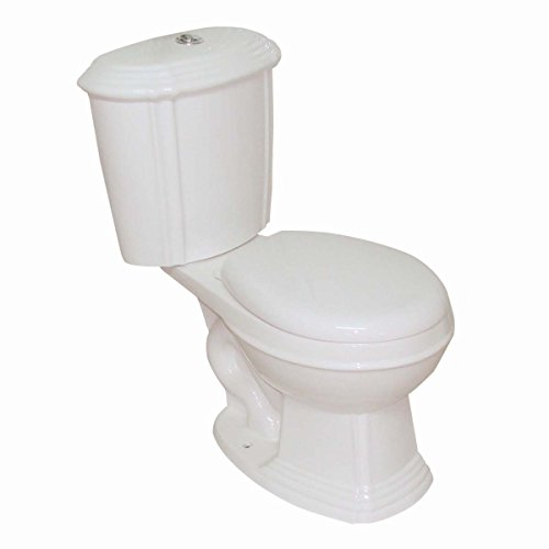 Bone China Round Dual Flush Toilet Seat Included