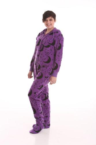 Funzee Grenouillère Adulte Barboteuse Adulte Pyjama-Une-Pièce En Style Wizard Avec Pieds - Jumpsuit XS-XXL