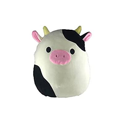 Kellytoys Squishmallow 8'' Conner The Cow Super Soft Plush Toy Pillow Pet Animal Pillow: Toys & Games