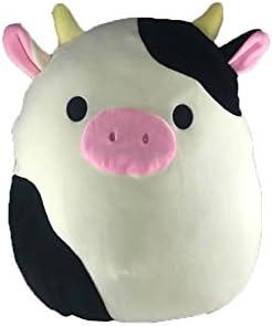 Kellytoys Squishmallow 8 Conner The Cow Super Soft Plush Toy Pillow Pet Animal Pillow