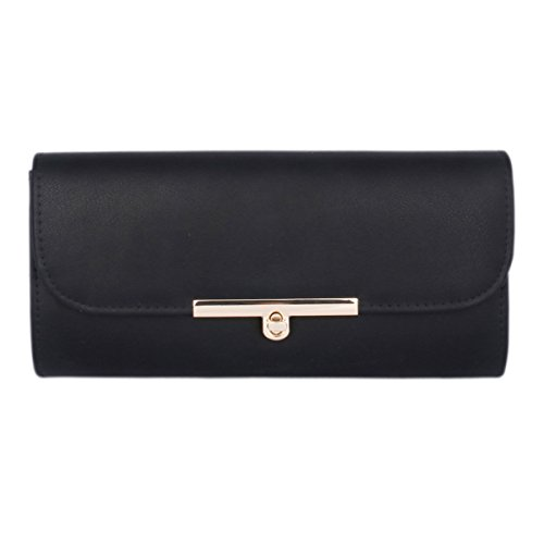 Bag Classic Women's Damara Purse Lock Black Inserting Evening PU n0Zqqw1Wf