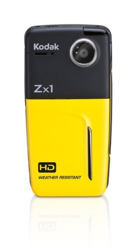 Kodak Zx1 HD Pocket Video Camera (Yellow) (Discontinued by Manufacturer) (Certified Refurbished)