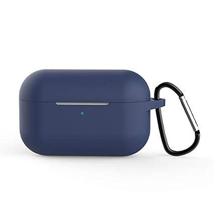 Blufied Funda de Silicona para AirPods Pro Bolsa de Almacenamiento para Auriculares de Viaje Superficie Lisa Protecci/ón General a Prueba de Polvo Cubierta de Auriculares Azul Marino