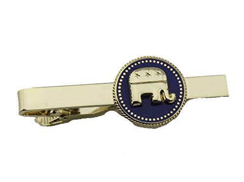 hibadge US Presidential President Republican Elephant Tie Clip
