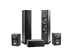Polk Audio T15 Bookshelf Speakers, Pair, Black