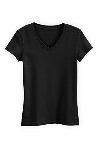 Fair Trade Fashion (Fair Indigo Fair Trade Organic Essential V-Neck Tee (S, Black))
