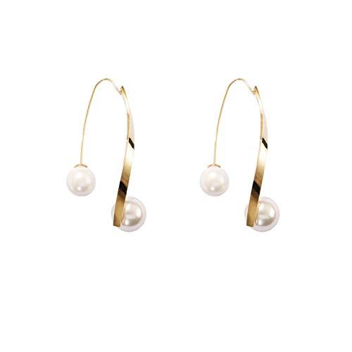 Temp/érament pour assortir les boucles doreilles froides de vent femmes simples d/élicates ongles doreille de perle en m/étal personnalit/é boucles doreilles de haute sensation