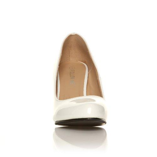 PEARL - Chaussures à talons aiguilles - Bout rond - Blanc