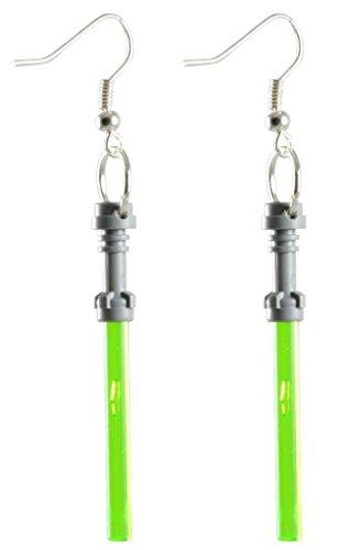 (LEGO Lightsaber Earrings Green)