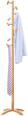 Jia He コートラック コートラックの床ソリッドウッドハンガーシンプルなラックベッドルームの洋服吊りファッション服ラックサイズ-45x45x175CM @@ (PATTERN : A)
