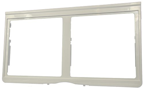 LG Electronics 3550JJ1033A Refrigerator Crisper Cover/Shelf Frame, White Refrigerator Glass Crisper Shelf