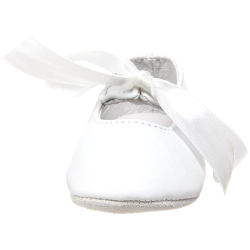 Ralph Lauren Layette Briley Ballet Crib Shoe (Infant/Toddler),White Lambskin,3 M US Infant - Image 4