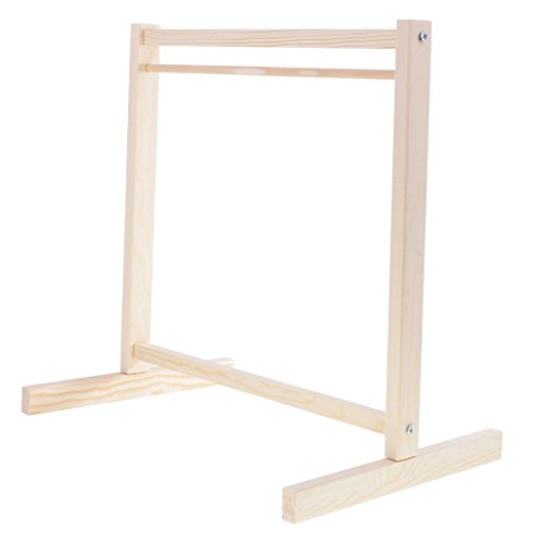 This one is too small for my doll, but it gives you an idea. Doll Wood Garment Rack