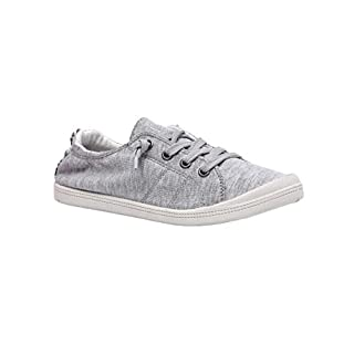 Dunes Sport Women's Reesa Canvas Sneaker, Grey, 7.5