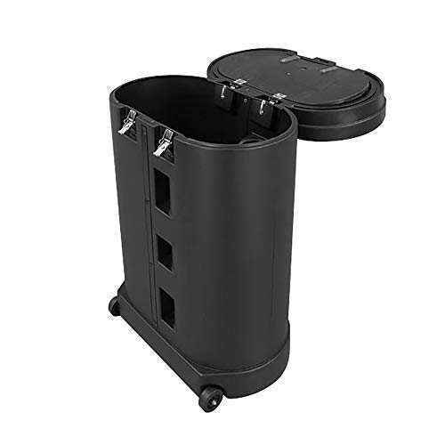 Vispronet Hard PVC Case with Wheels and Removable Lid - Interior Dimensions are 26.5in x 30.5in x 11in - Weighs 37lbs and Stands 39in Tall- Foldable Countertop NOT - Display Banner Pvc
