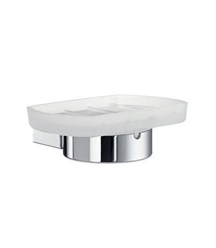 Smedbo SME AK342 Holder with Glass Soap Dish, Polished Chrome, - Dish Smedbo Soap