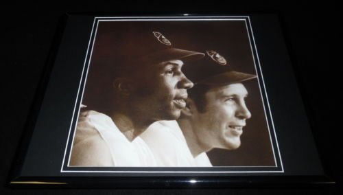 - Frank & Brooks Robinson Framed 11x14 Photo Display 1970 Orioles