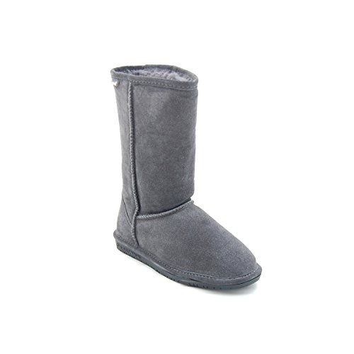 BEARPAW  Emma Tall Youth Boot,Charcoal,13 M US Little Kid Red Shearling Boots