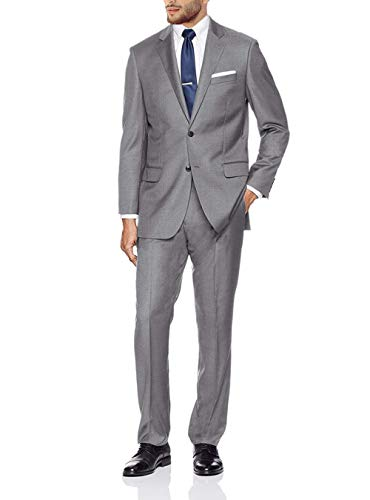 GN GIORGIO NAPOLI Presidential Men's 2 Button Suit Separate Coat Blazer (42 Short US / 52 Short EU, Light Gray)