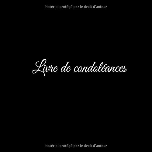 Livre De Condoléances Livre De Condoleances Livre