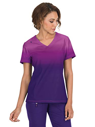 KOI Lite Zip Pocket Ombre Reform Scrub Top for Women