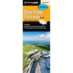 (Blue Ridge Parkway Laminated Travel Map)
