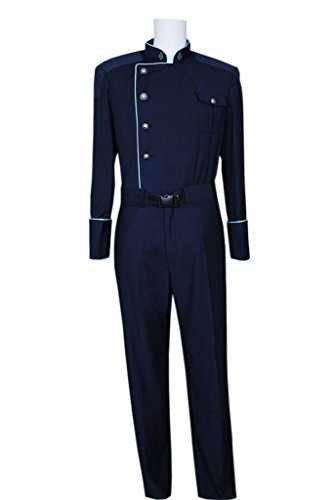 [FancyStyle Battlestar Cosplay Commander Officer Costume Blue Male XL] (Galactica Costumes)