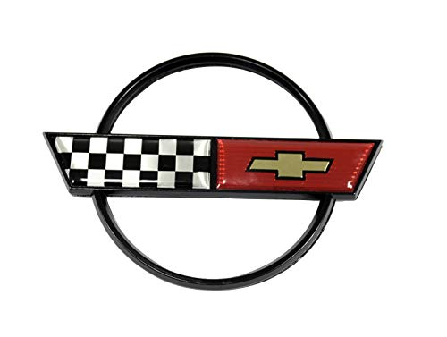 - Keen Parts C4 Corvette Gas Door Emblem Crossed Flags