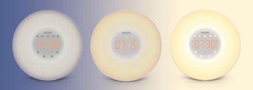 Philips HF3505 Light Therapy, simulador de amanecer con lámpara LED (10 configuraciones) e interfaz táctil, blanco