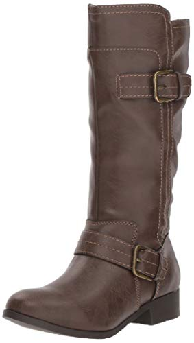 Nine West Girls' SAHIRA Knee High Boot, Dark Brown, M040 M US Little Kid