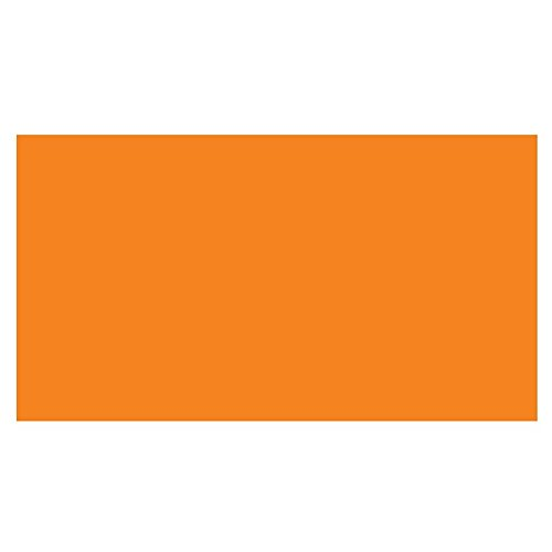 3'' x 5'' Fluorescent Orange Rectangle Labels (500 per Roll) by The Label Supplies Shop