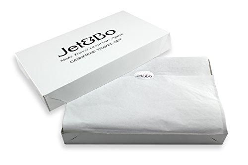 Jet&Bo 100% Cashmere Travel Set: Blanket, Eye Mask, Socks, Carry/Pillow Case Natural by Jet&Bo (Image #1)