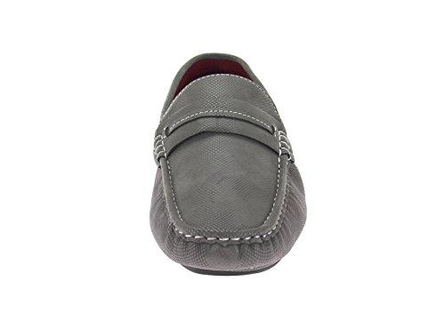 Salvatore Exte Mens Shoe Woodley Slip-On Loafer Grey kNtinzPr