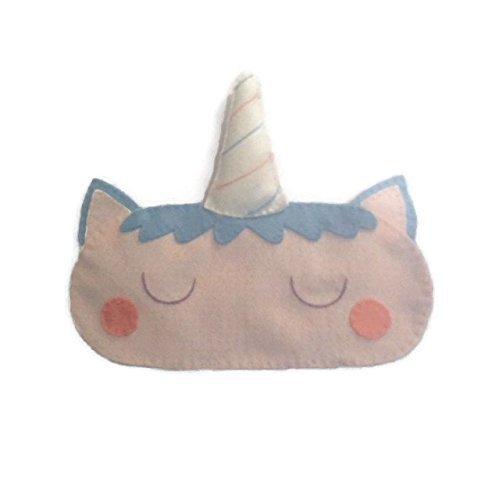 Cute Felt Unicorn Sleep Mask by NipNopsUK
